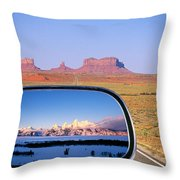 In The Rear View Mirror 2 Throw Pillow
