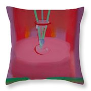 In The Red Room Throw Pillow
