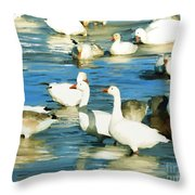 In The River  Throw Pillow
