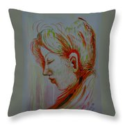 In The Room Of Peace Throw Pillow