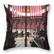 In The Roundhouse At The B And O Railroad Museum In Baltimore Throw Pillow