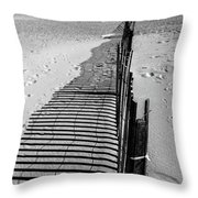 In The Sand Throw Pillow