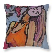 In The Shadow Of The Flowers Throw Pillow