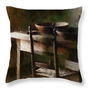 In The Shaker Kitchen Throw Pillow