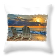 In The Spotlight Bordered Throw Pillow