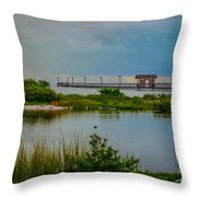 In The Still Of The Morning Throw Pillow
