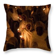 In The Streets Of Aksum Throw Pillow
