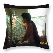 In The Studio Throw Pillow