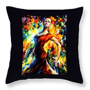 In The Style Of Flamenco Throw Pillow