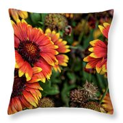 In The Summer Garden Throw Pillow