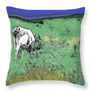 In The Sweet Fields Throw Pillow