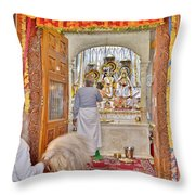 In The Temple Door Throw Pillow