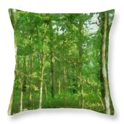 In The Thick Of Things Throw Pillow