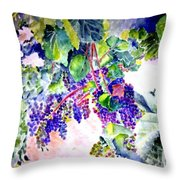 In The Vineyards Throw Pillow