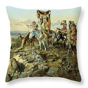 In The Wake Of The Hunters Throw Pillow