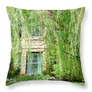 In The Weeping Willows Throw Pillow
