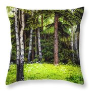 In The Woods Throw Pillow