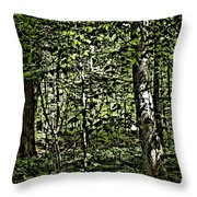 In The Woods Wc Throw Pillow