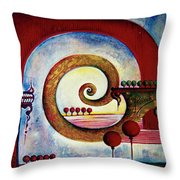 In The World Of Balance Throw Pillow