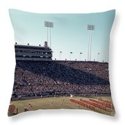 In This Vintage 1955 Photo The University Of Texas Longhorn Band Throw Pillow