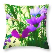 In Time For Summer Throw Pillow
