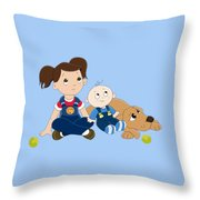 In Trouble Throw Pillow