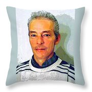 In Truth You Never Die Throw Pillow by Guy Ricketts