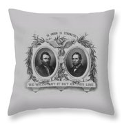 In Union Is Strength - Ulysses S. Grant And Schuyler Colfax Throw Pillow