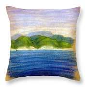 In View Of Tuapse Throw Pillow