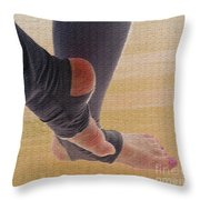In Warm Up Tights Relaxed Position Throw Pillow