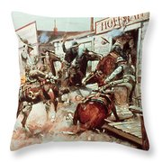 In Without Knocking Throw Pillow