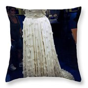 Inaugural Gown On Display Throw Pillow