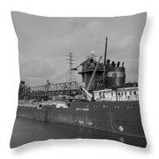Inbound To Severstal - Black And White Throw Pillow