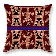 Inca Gecko Spirits Throw Pillow