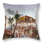Inca Native Indians Throw Pillow