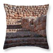 Inca Steps At Chinchero  Throw Pillow