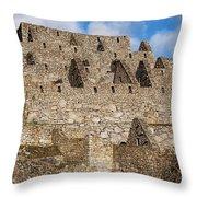 Inca Stone Ruins Throw Pillow