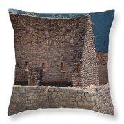 Inca Structure Throw Pillow