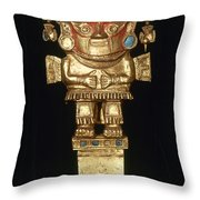 Incan Gold Ornament Throw Pillow
