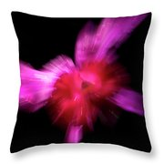 Incoming Attack Orchid Throw Pillow