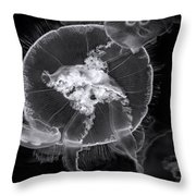 Incoming Bw Throw Pillow