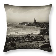 Incoming Fog On The Coquille Throw Pillow