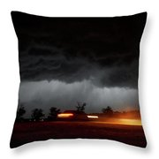 Incoming Gloom Throw Pillow