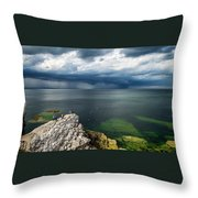 Incoming Rain Throw Pillow