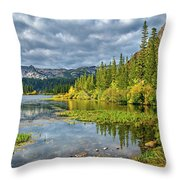 Incoming Storm At Twin Lakes Throw Pillow
