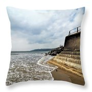 Incoming Tide - Charmouth Throw Pillow