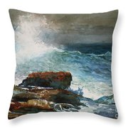 Incoming Tide Scarboro Maine Throw Pillow