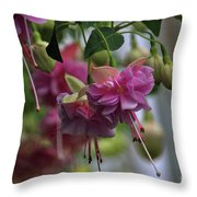 Incredible Fuschia Throw Pillow