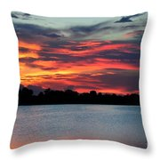 Incredible Red Sky  Throw Pillow
