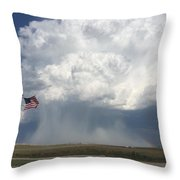 Independence Day In Sioux County Nebraska Throw Pillow